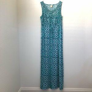 Boho Crochet Tank Top Maxi Dress